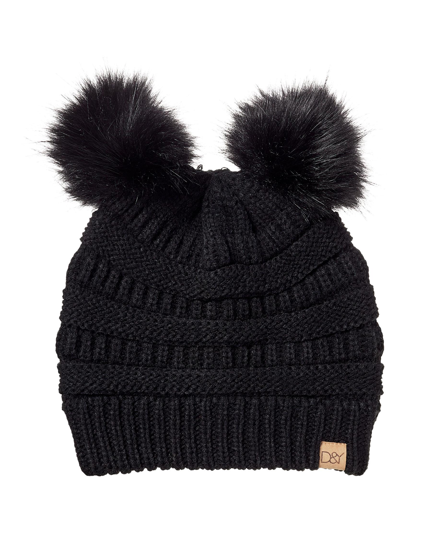 David & Young Black Hats & Headwear Beanies