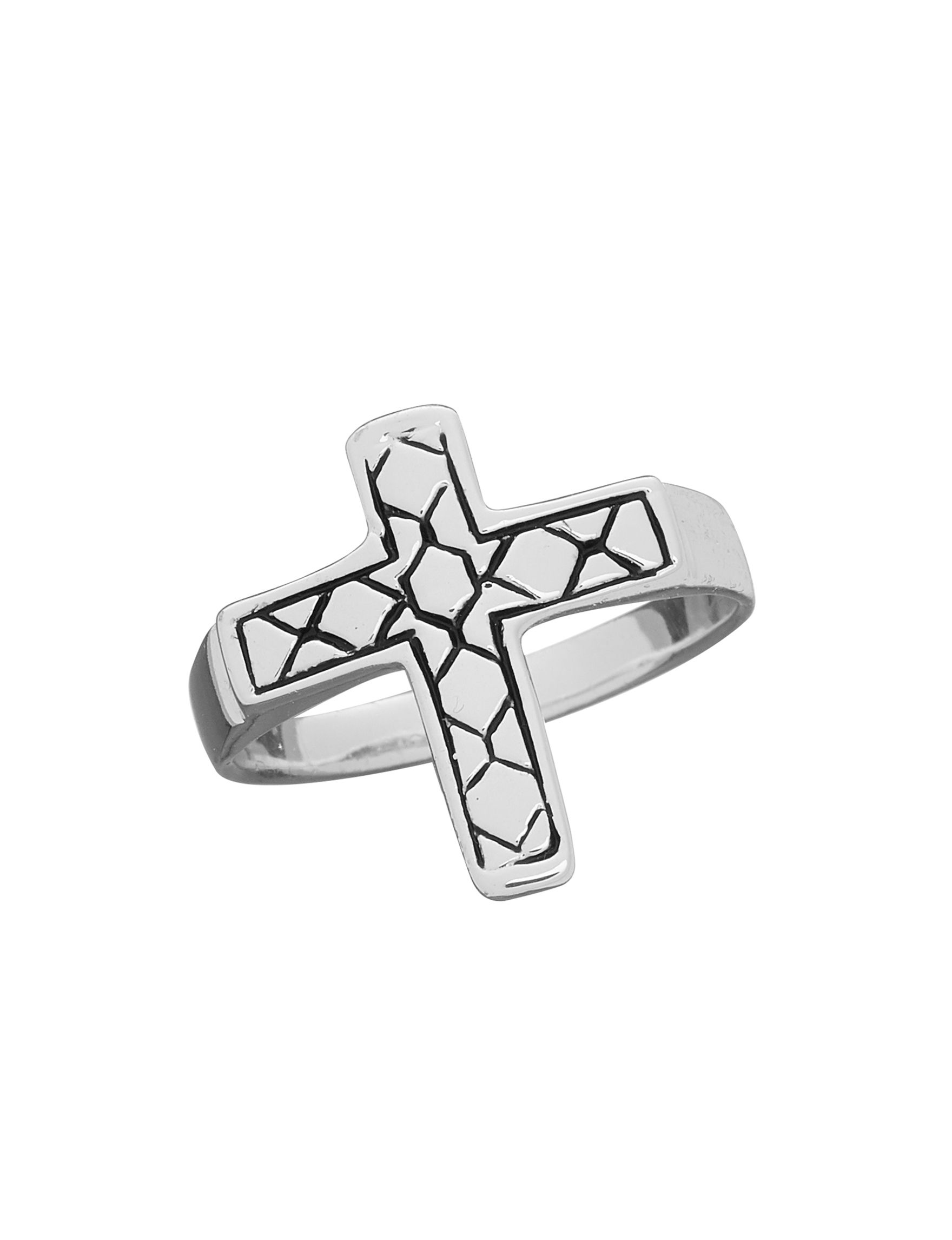 Marsala Silver / Black Rings Fine Jewelry