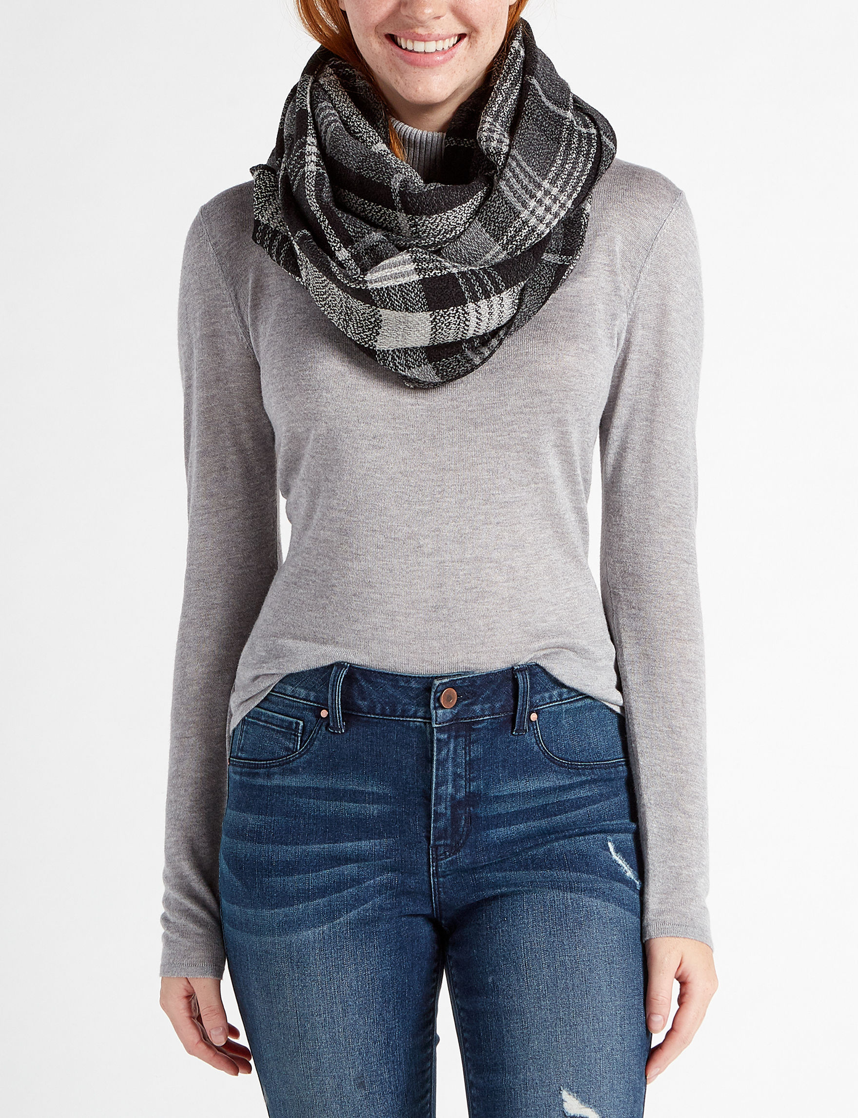 Modena Black/Grey Scarves & Wraps