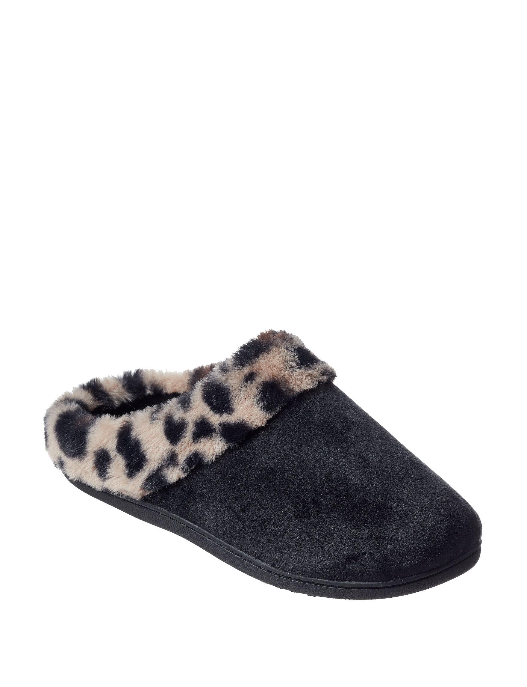 Isotoner Black Slipper Shoes