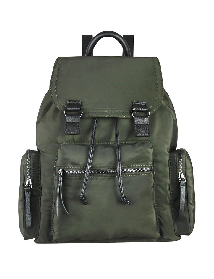 London Rag Army Green Bookbags & Backpacks