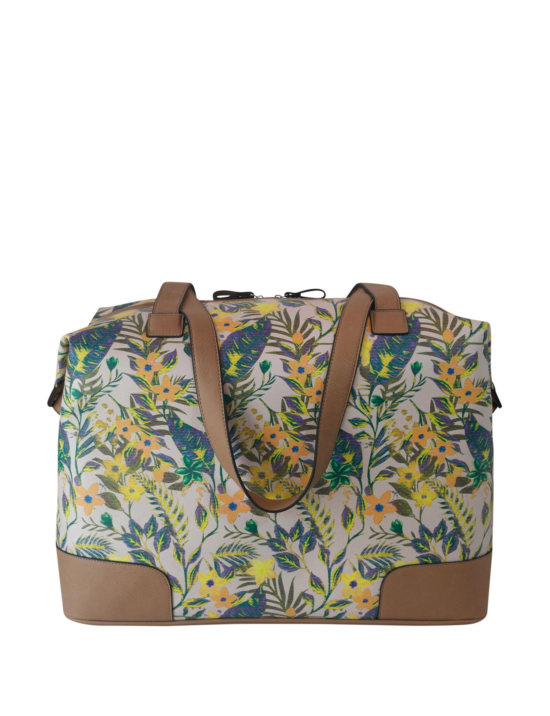 Bueno Beige Floral Weekend Bags