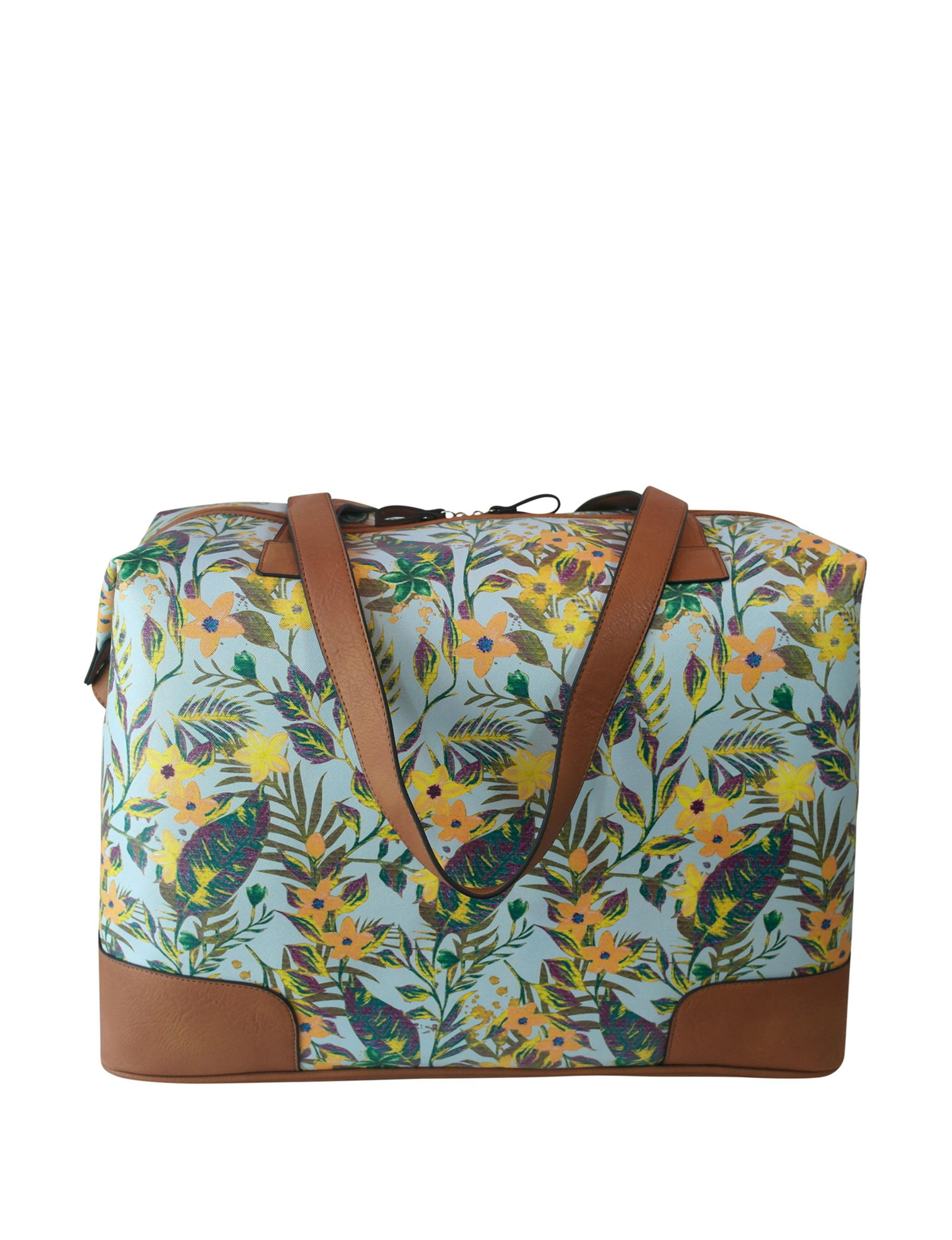 Bueno Blue Floral Weekend Bags