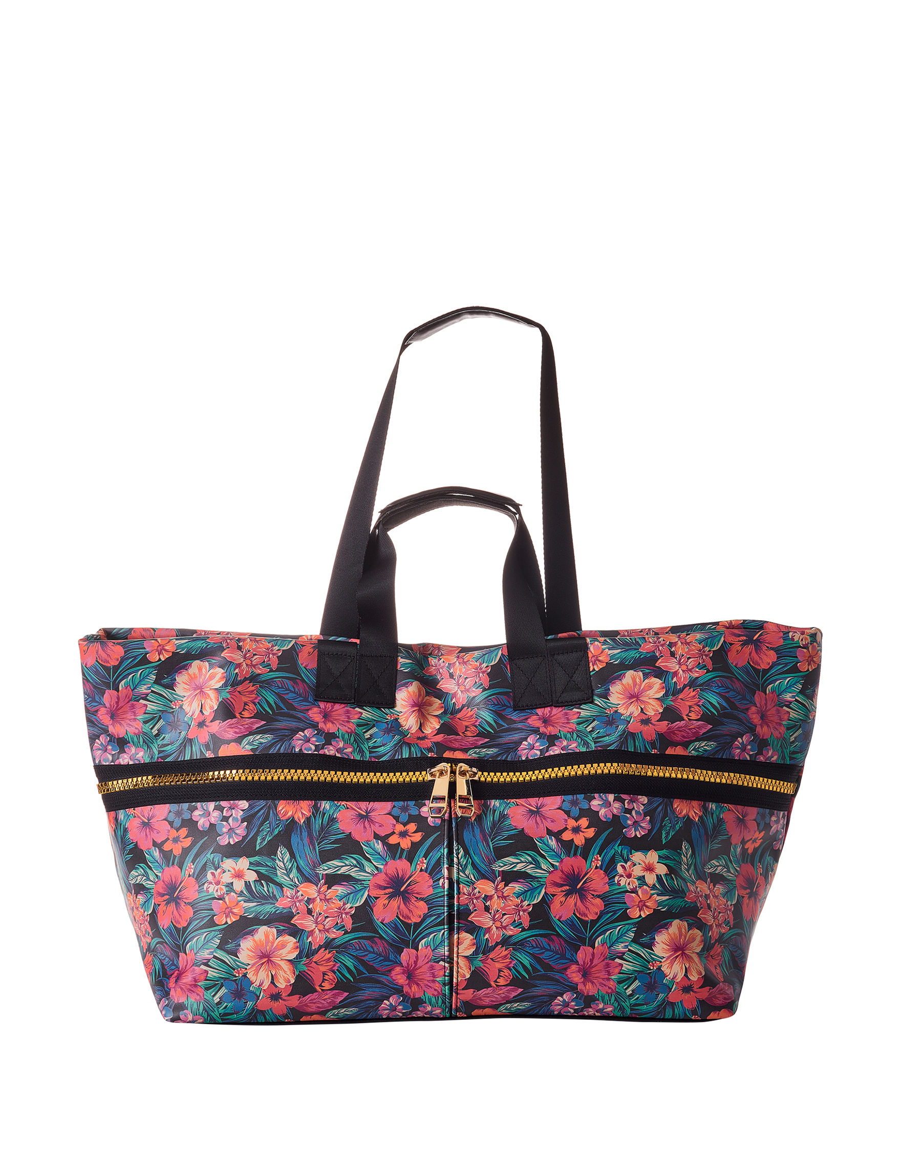 Madden Girl Black Floral Weekend Bags