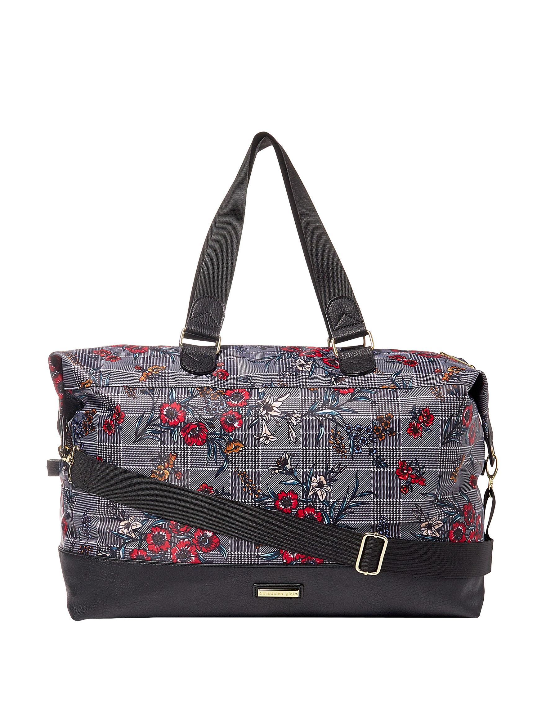 Madden Girl Black Multi Weekend Bags