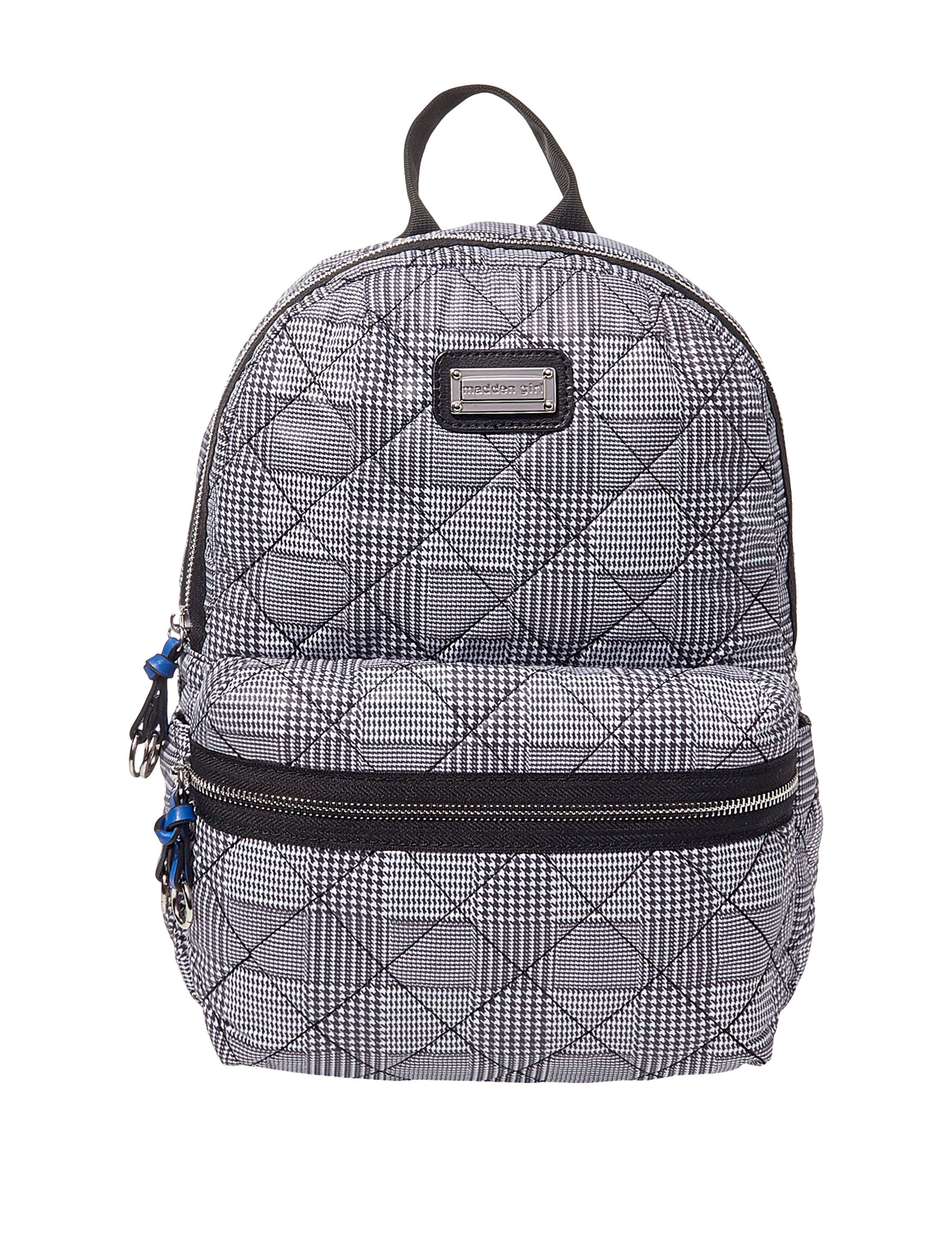 Madden Girl White / Black Bookbags & Backpacks