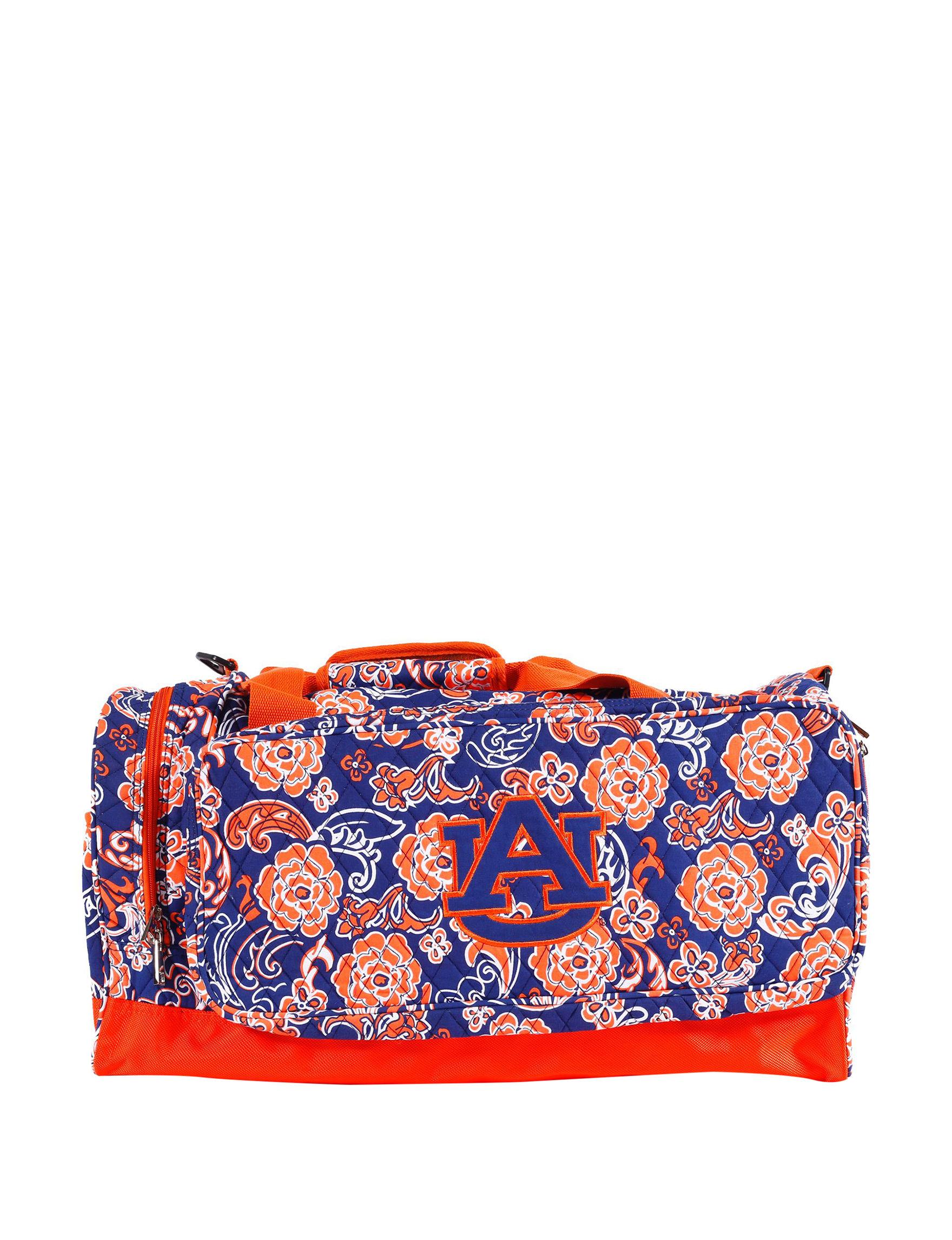 Viva Designs Blue Multi Duffle Bags