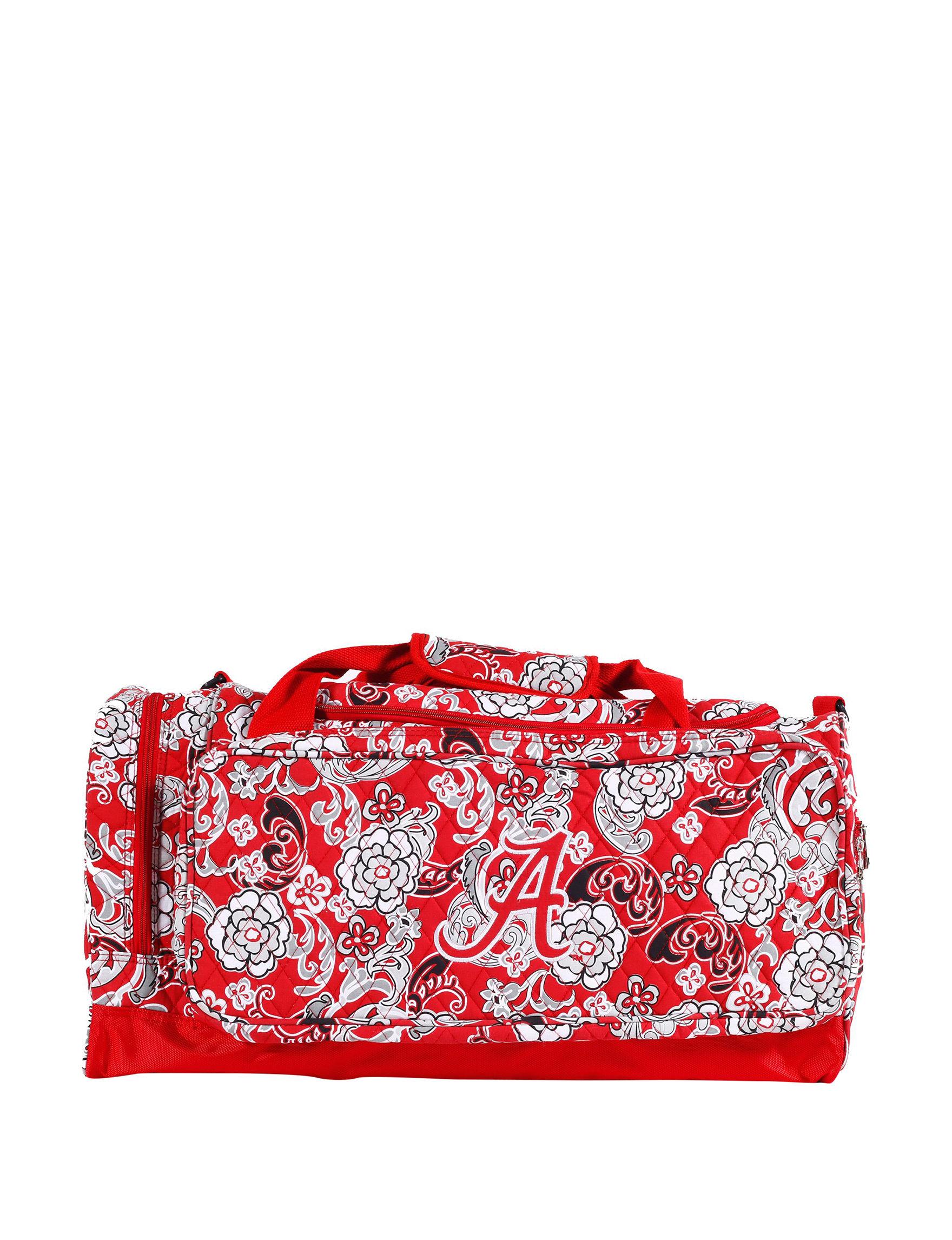 Viva Designs Red Multi Duffle Bags