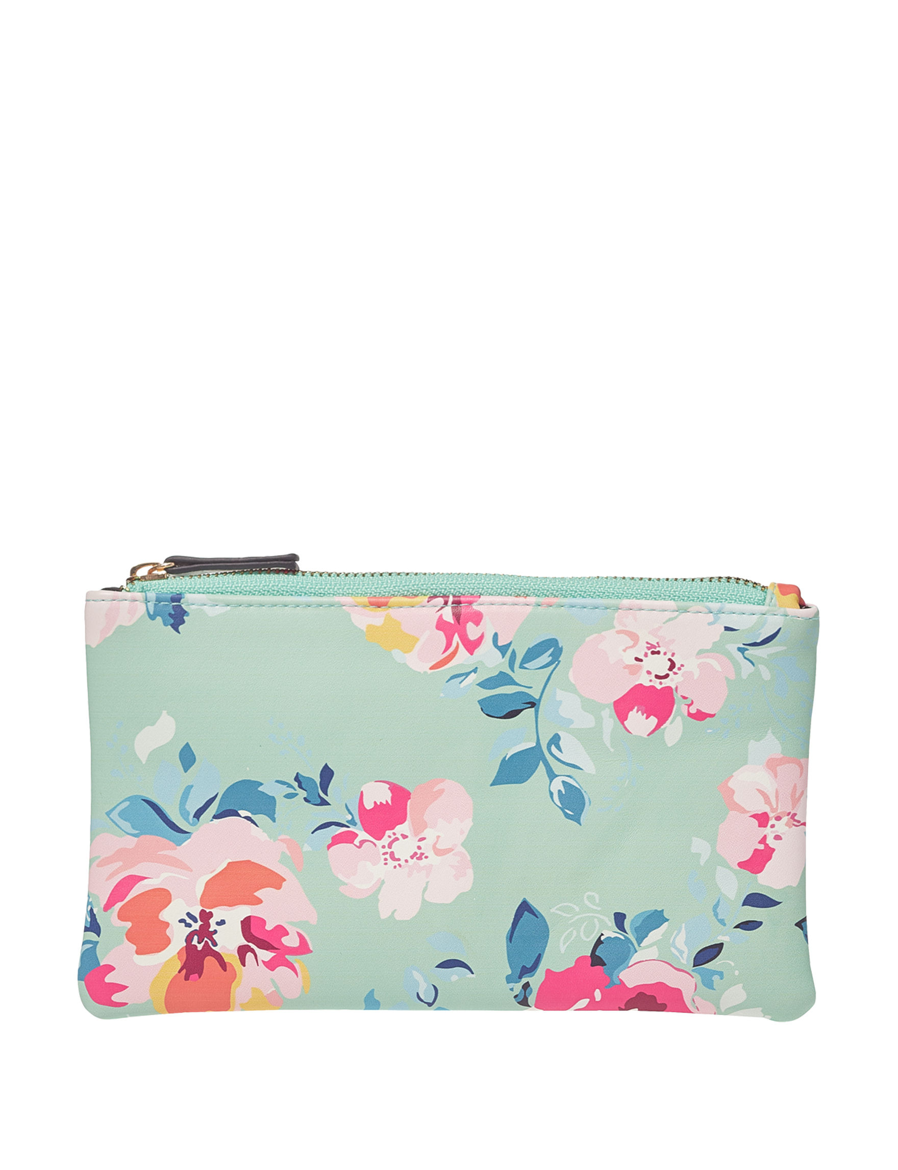 AHQ Green Floral Pouch