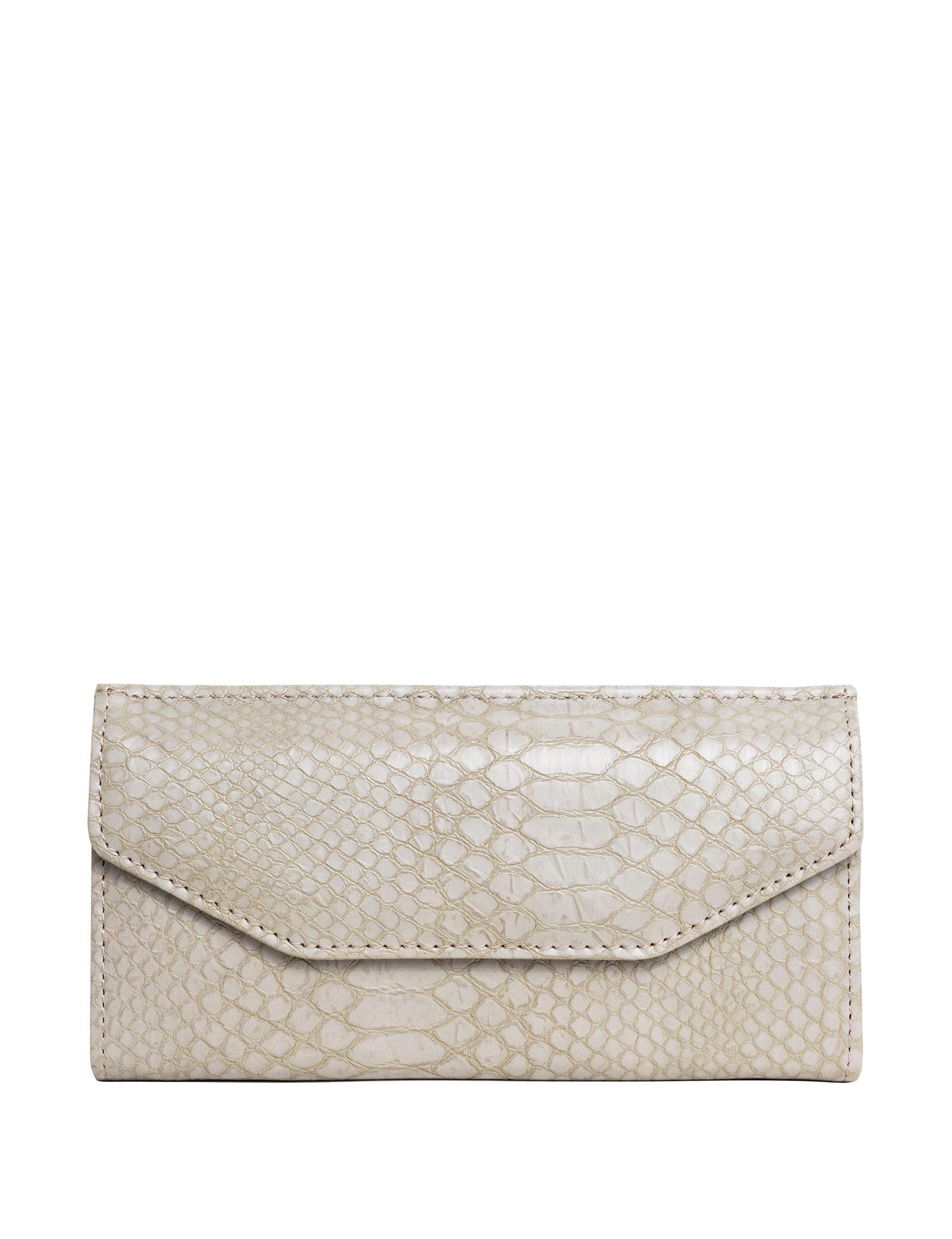 Madison Spencer Grey Snake Wallet