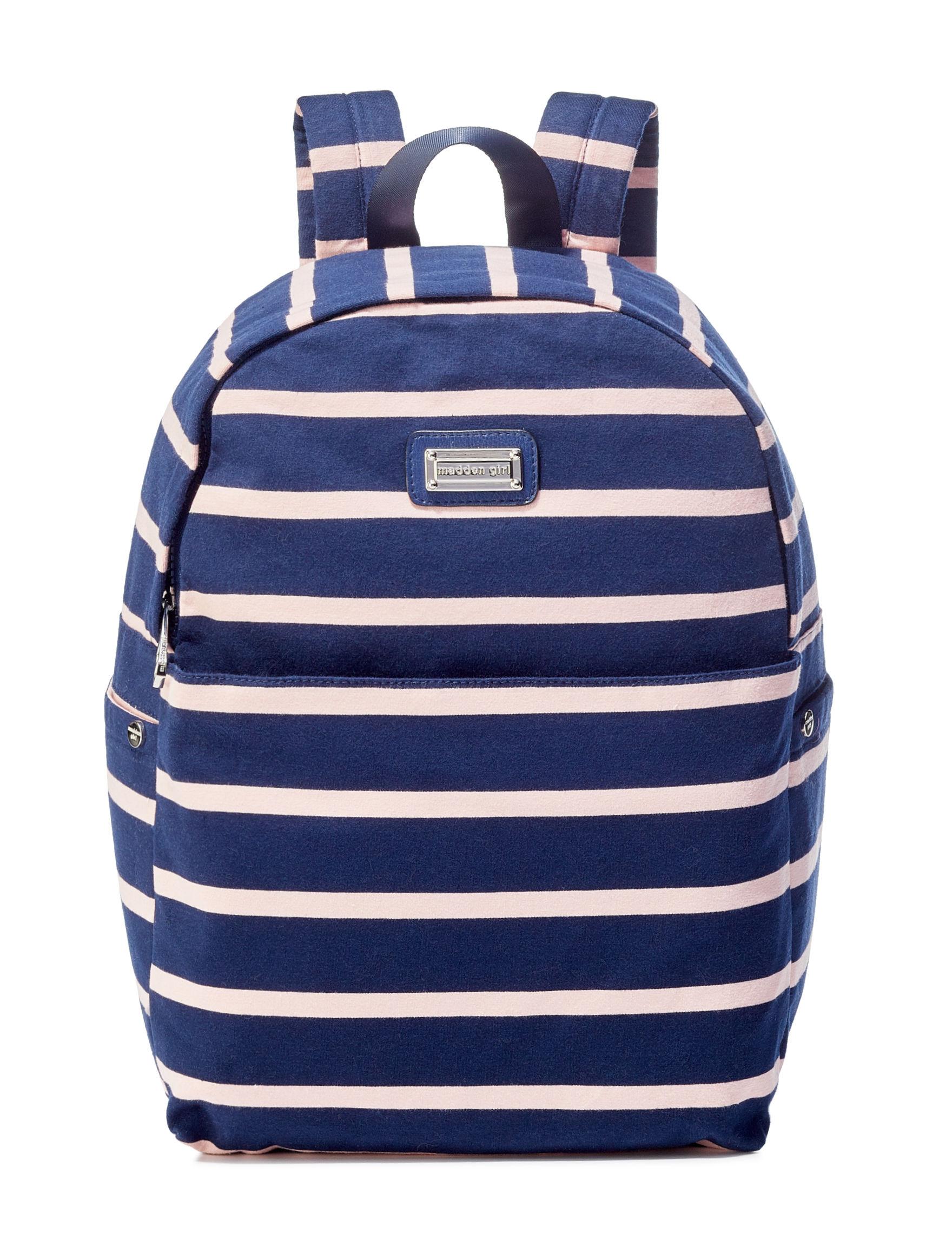 Madden Girl Navy / Multi Bookbags & Backpacks