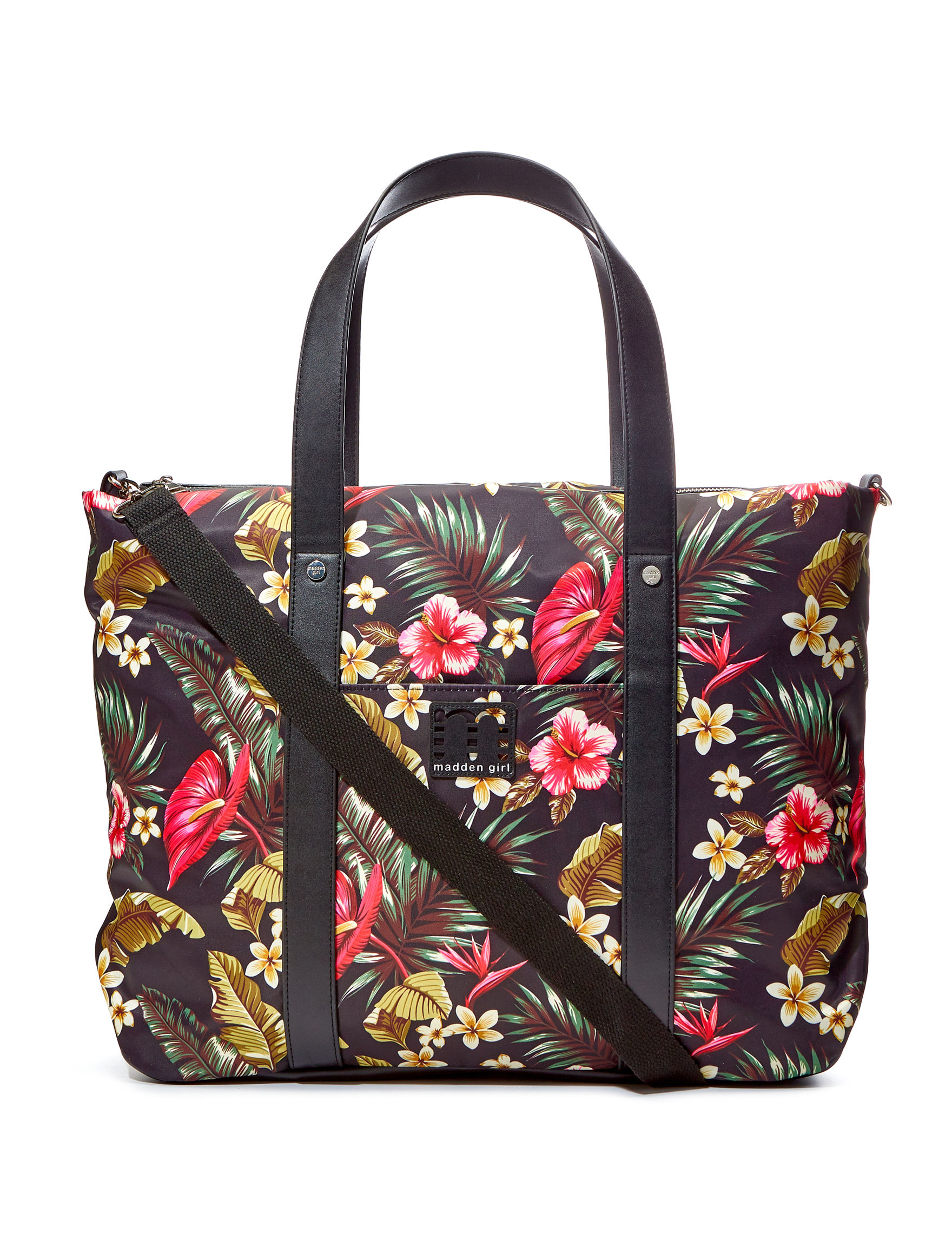 Madden Girl Black Floral Weekend Bags