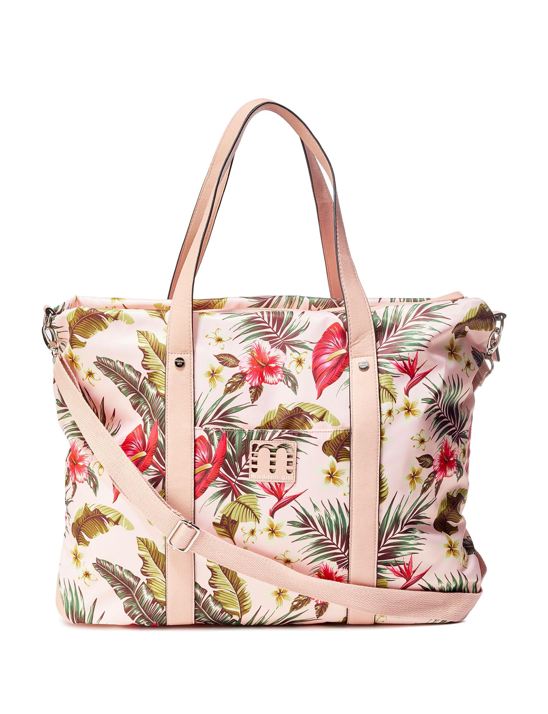 Madden Girl Pink / Multi Weekend Bags