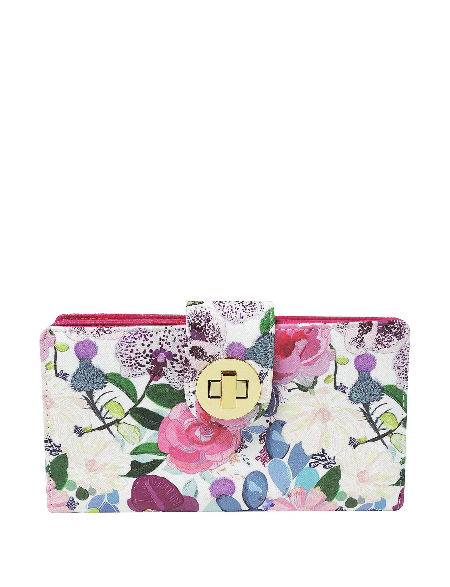 Buxton Pink Floral Wallet