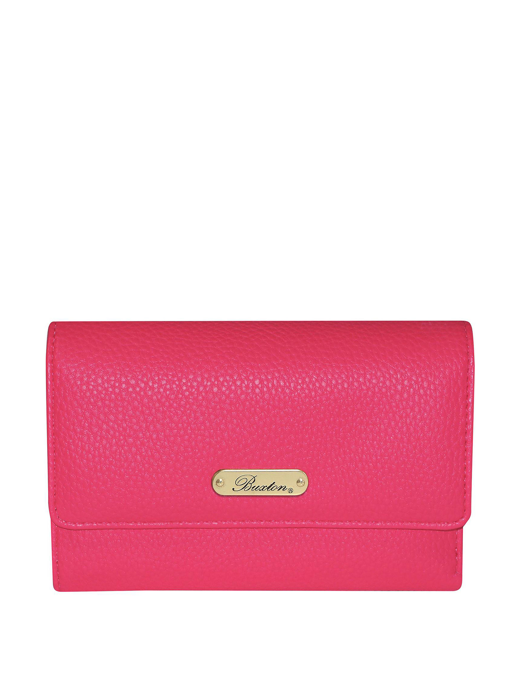 Buxton Bright Pink Wallet