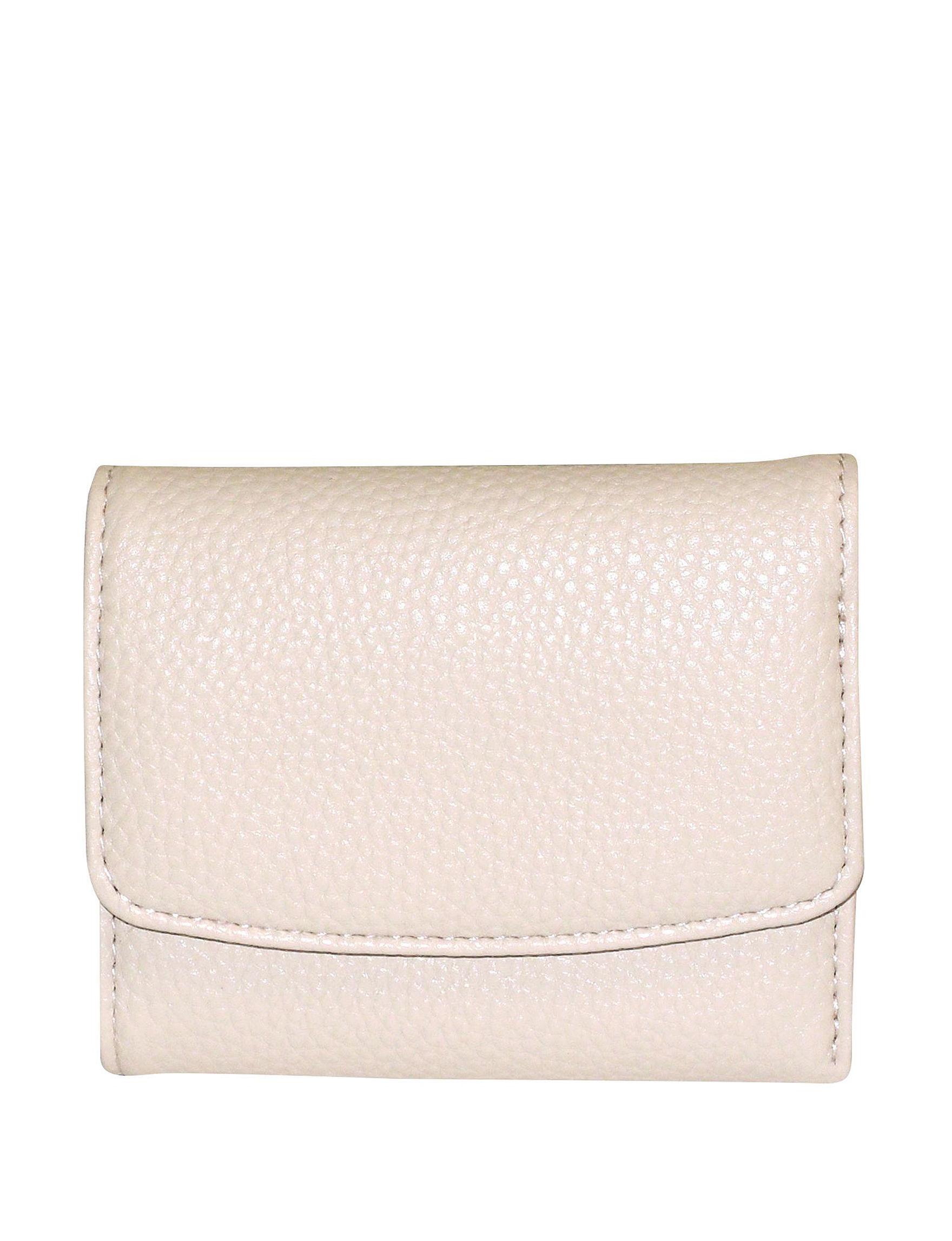 Buxton Beige Wallet