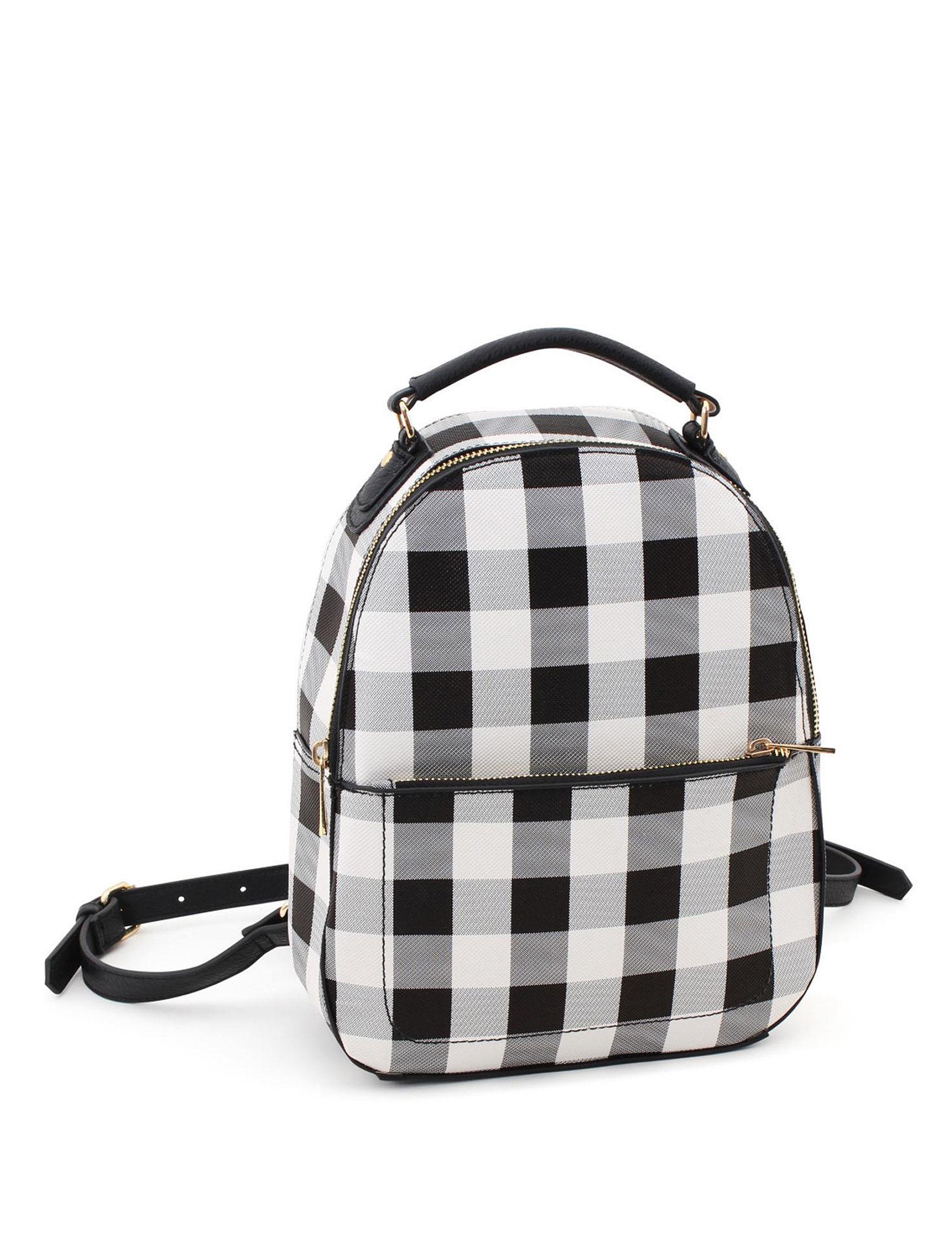 Valerie Stevens Black / White Bookbags & Backpacks