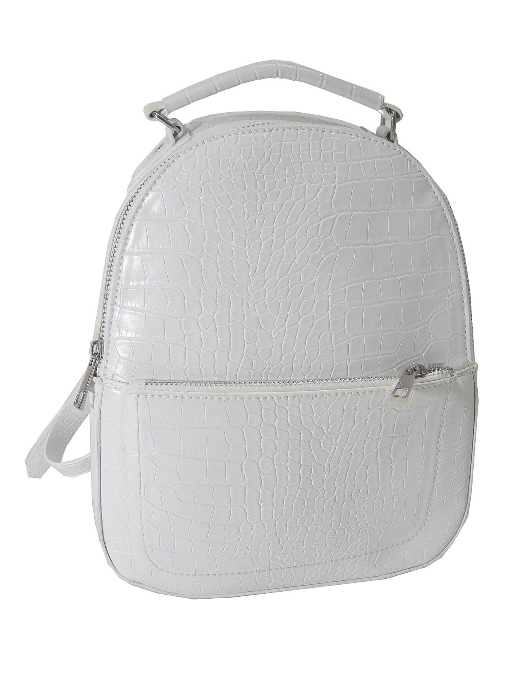 Valerie Stevens White Bookbags & Backpacks