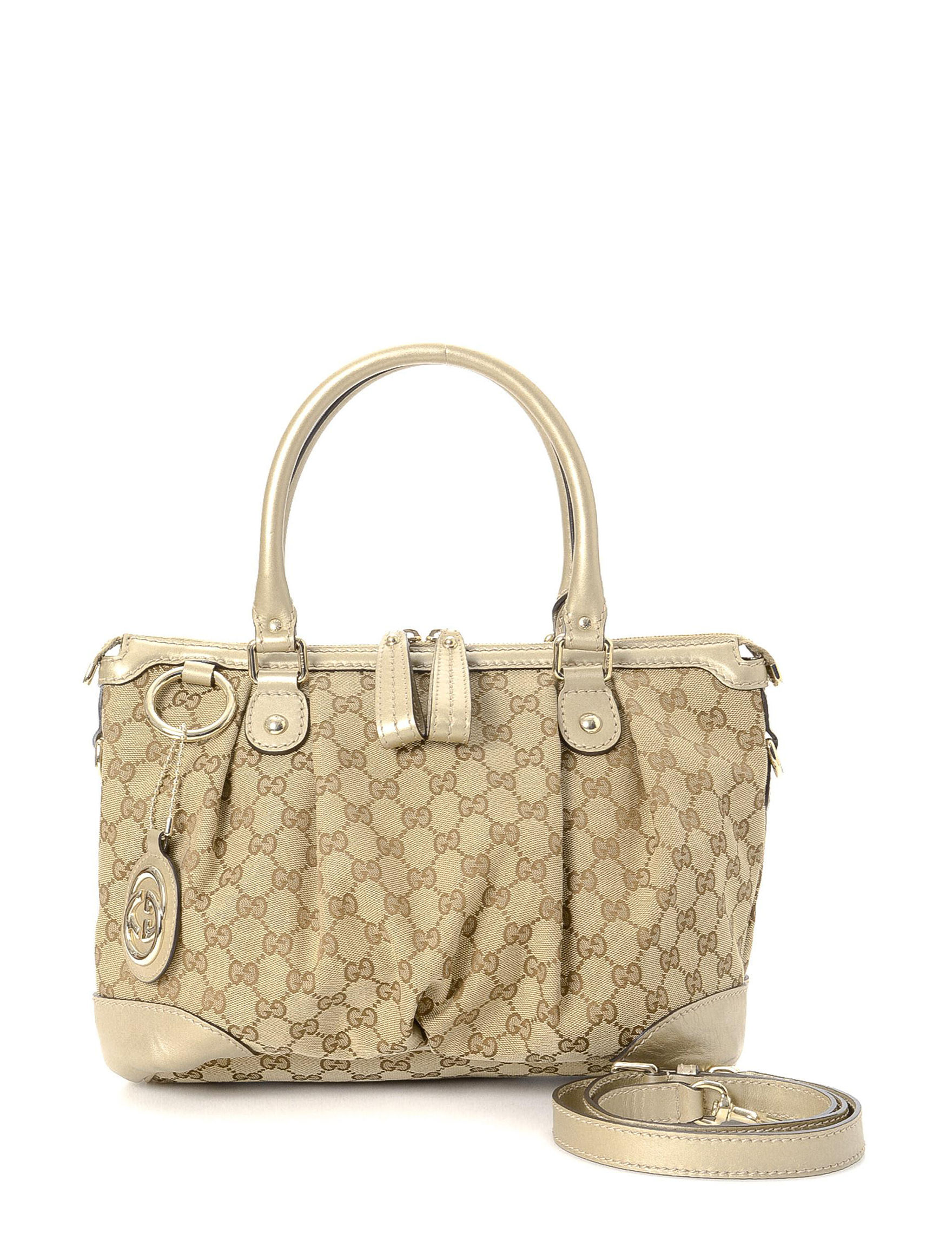 a7d863b0d7e Luxury Pre-Owned Gucci GG Canvas Sukey Two Way Handbag - FINAL SALE