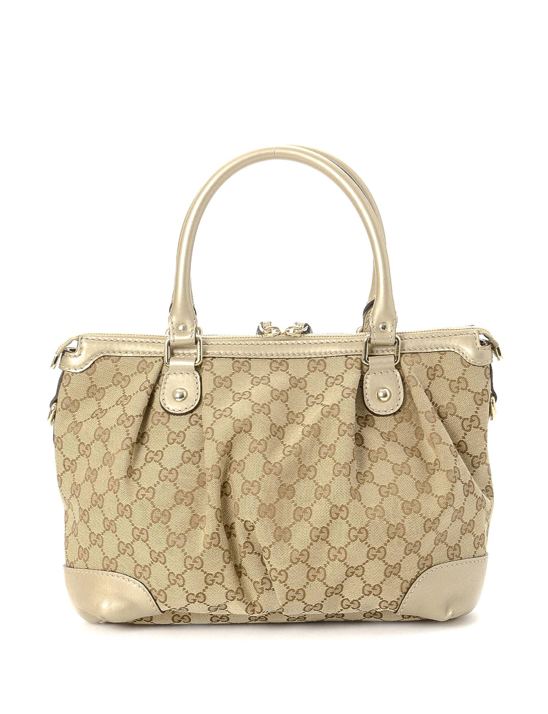 4fcc7a9e4b77 Luxury Pre-Owned Gucci GG Canvas Sukey Two Way Handbag - FINAL SALE | Stage  Stores