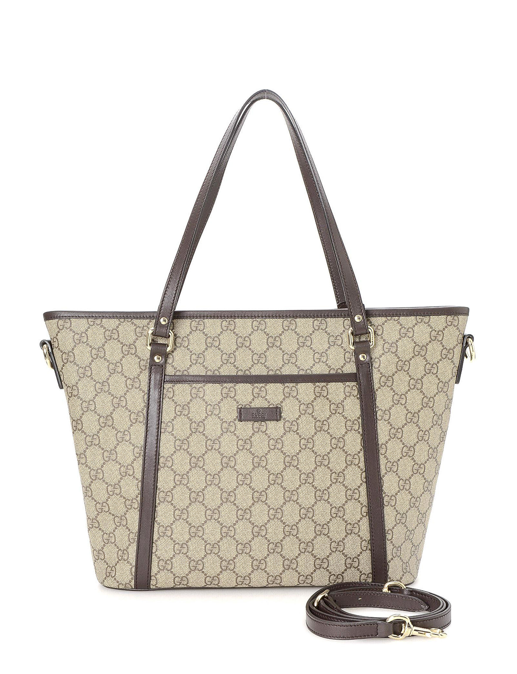 b58bedce3 Luxury Pre-Owned Gucci FF Supreme Two Way Tote - FINAL SALE ...