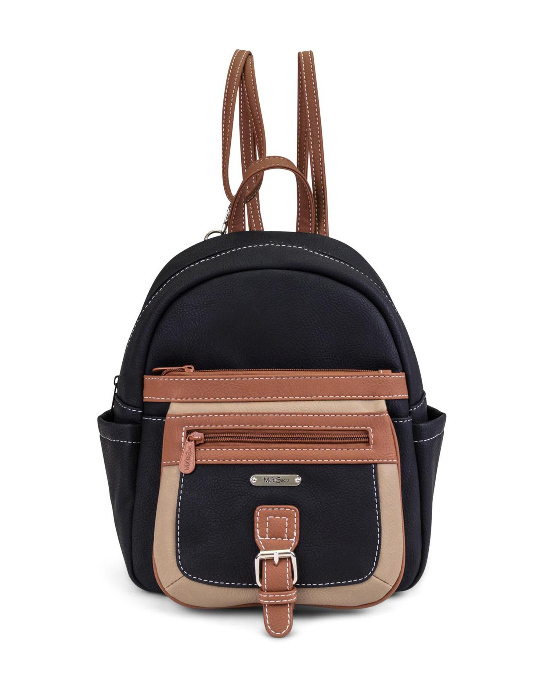 Koltov Black Multi Bookbags & Backpacks