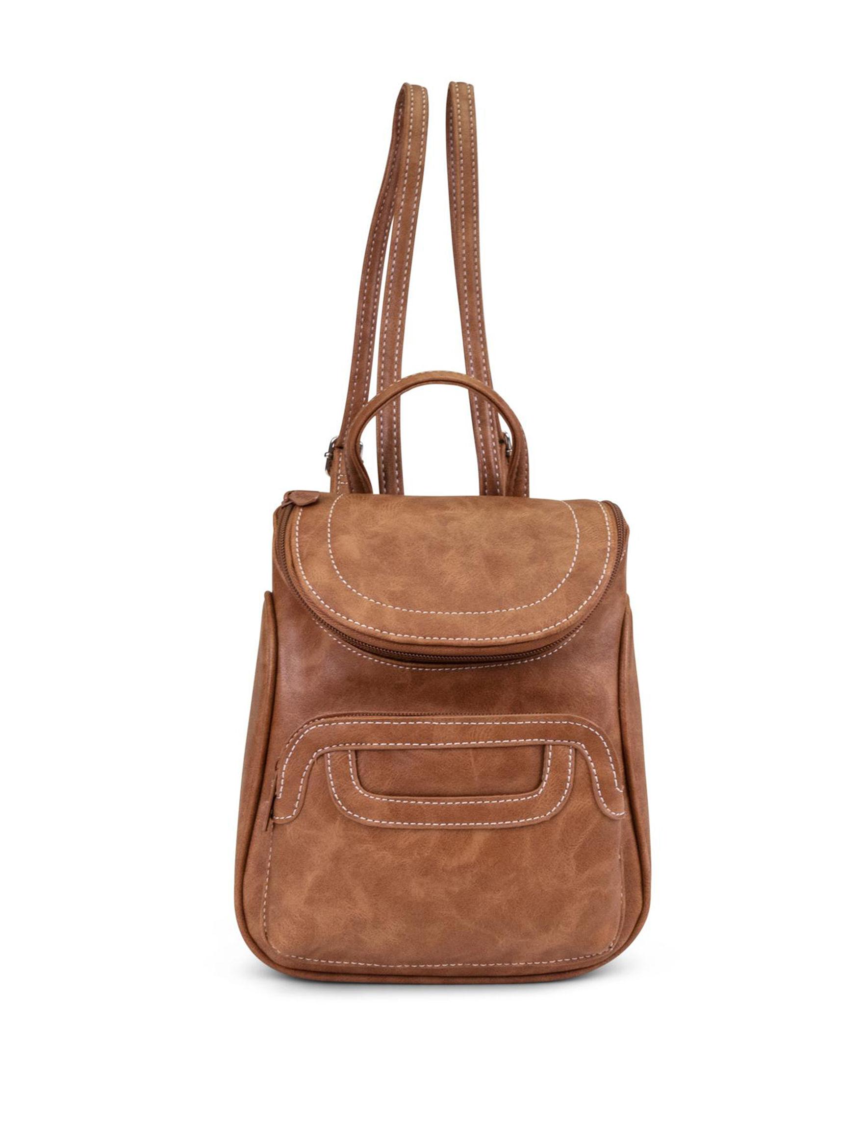 Koltov Cognac Bookbags & Backpacks