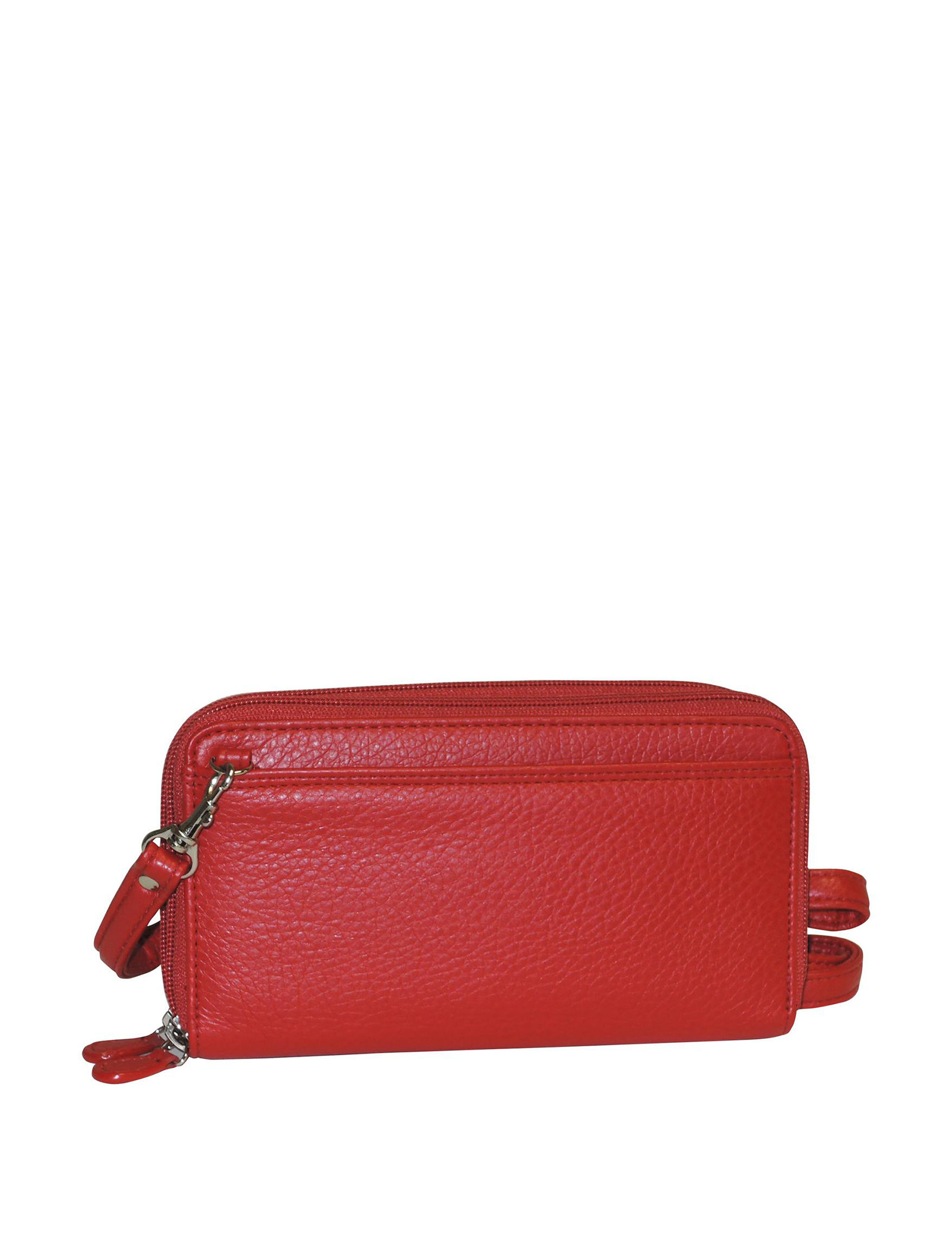 Buxton Red Wallet Wristlet