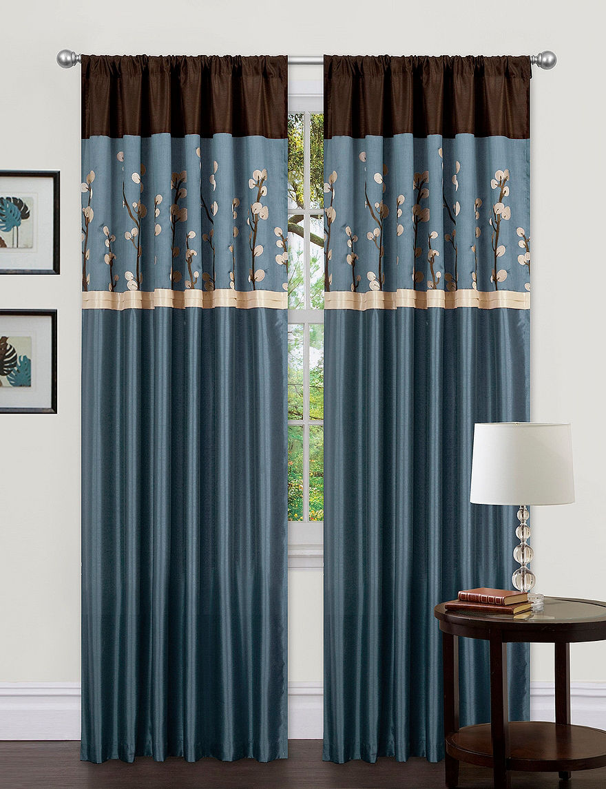 Lush Decor Blue Curtains & Drapes Window Treatments