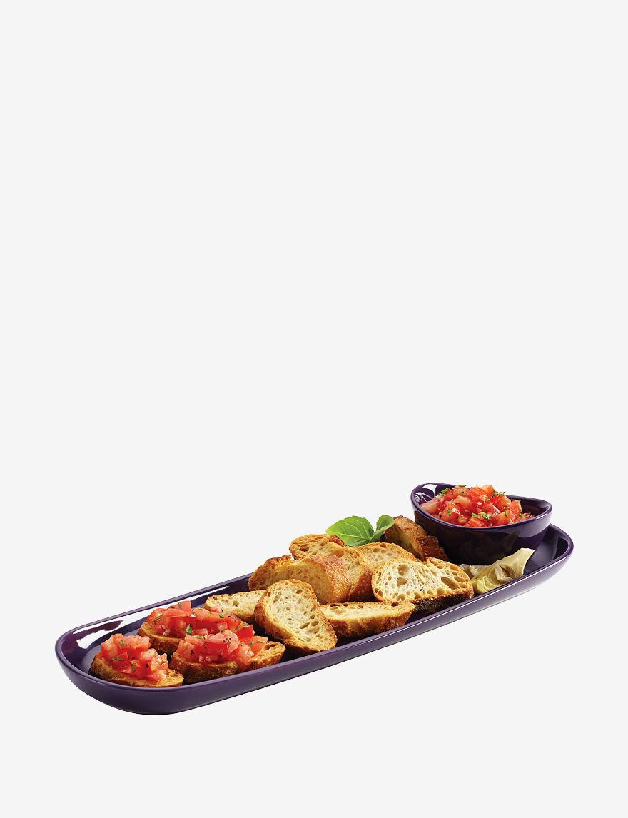 Rachael Ray Purple Serving Platters & Trays Serveware
