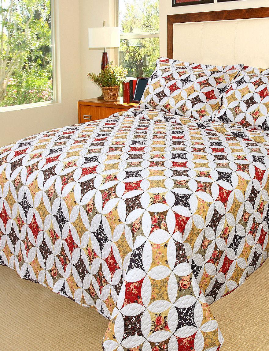 Lavish Home Cassandra Embroidered Quilt Set Stage Stores