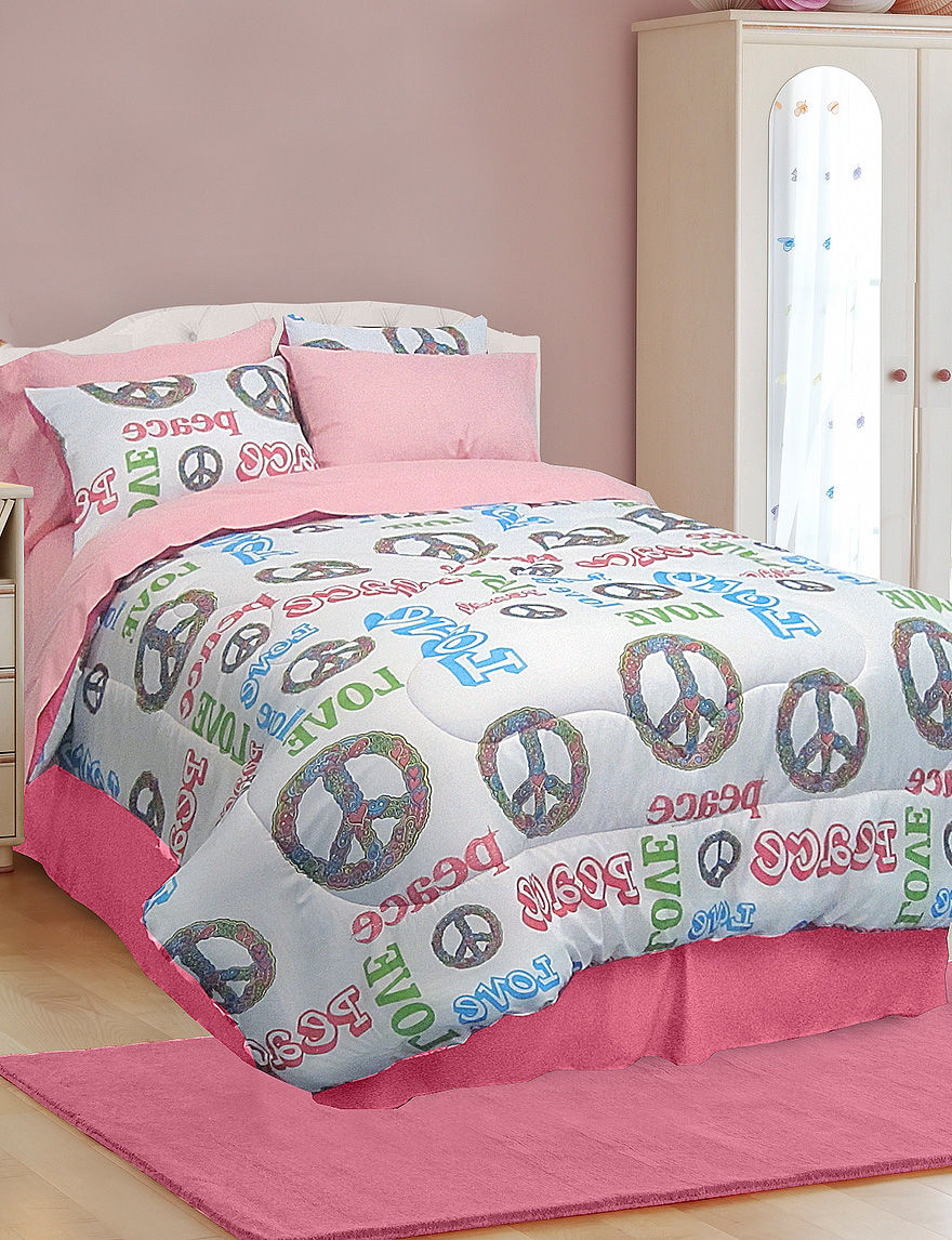 Veratex Pink / White Comforters & Comforter Sets