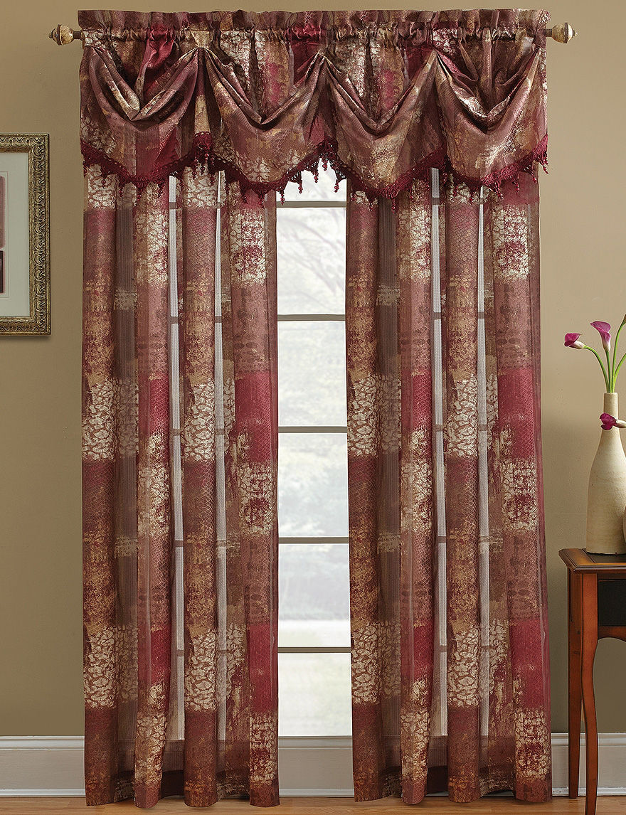 Chapel Hill by Croscill Burgundy Curtains & Drapes Window Treatments