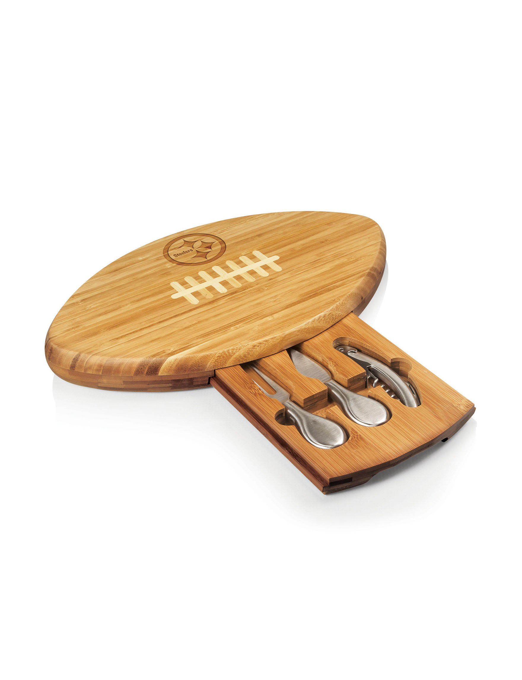 Picnic Time Natural Cutting Boards Wine & Bar Tools Bar Accessories Kitchen Appliances
