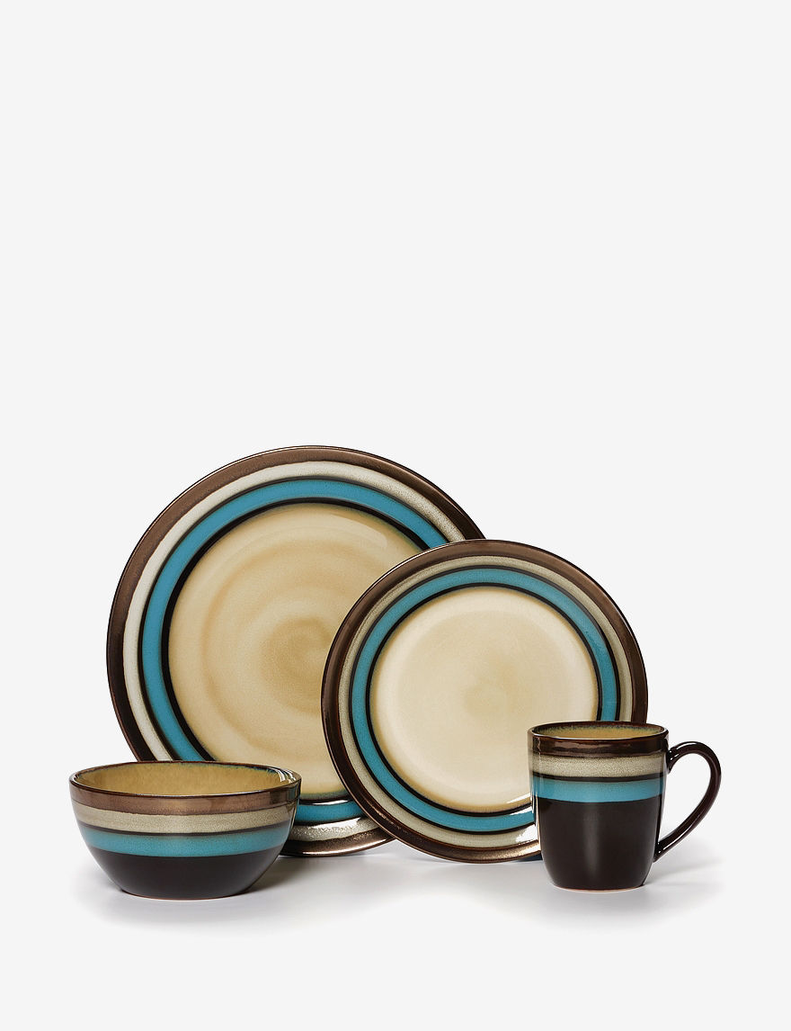 Gourmet Basics by Mikasa Spector Blue 16-pc. Dinnerware Set  sc 1 st  Stage Stores & Gourmet Basics by Mikasa Spector Blue 16-pc. Dinnerware Set | Stage ...