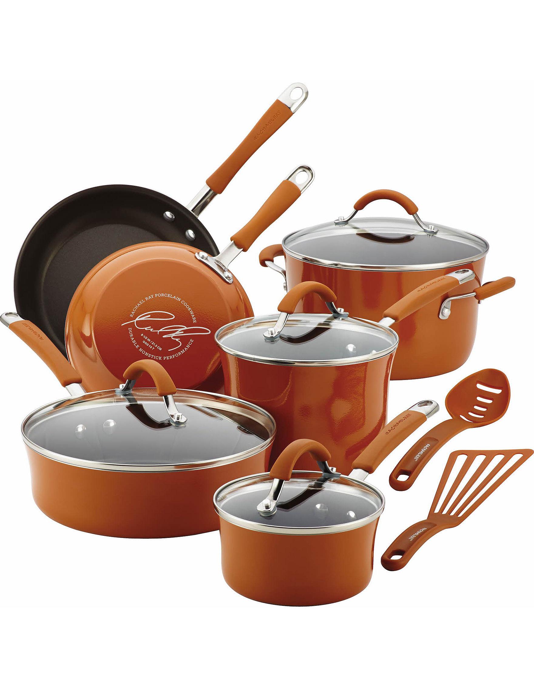 Rachael Ray Orange Cookware Sets Cookware