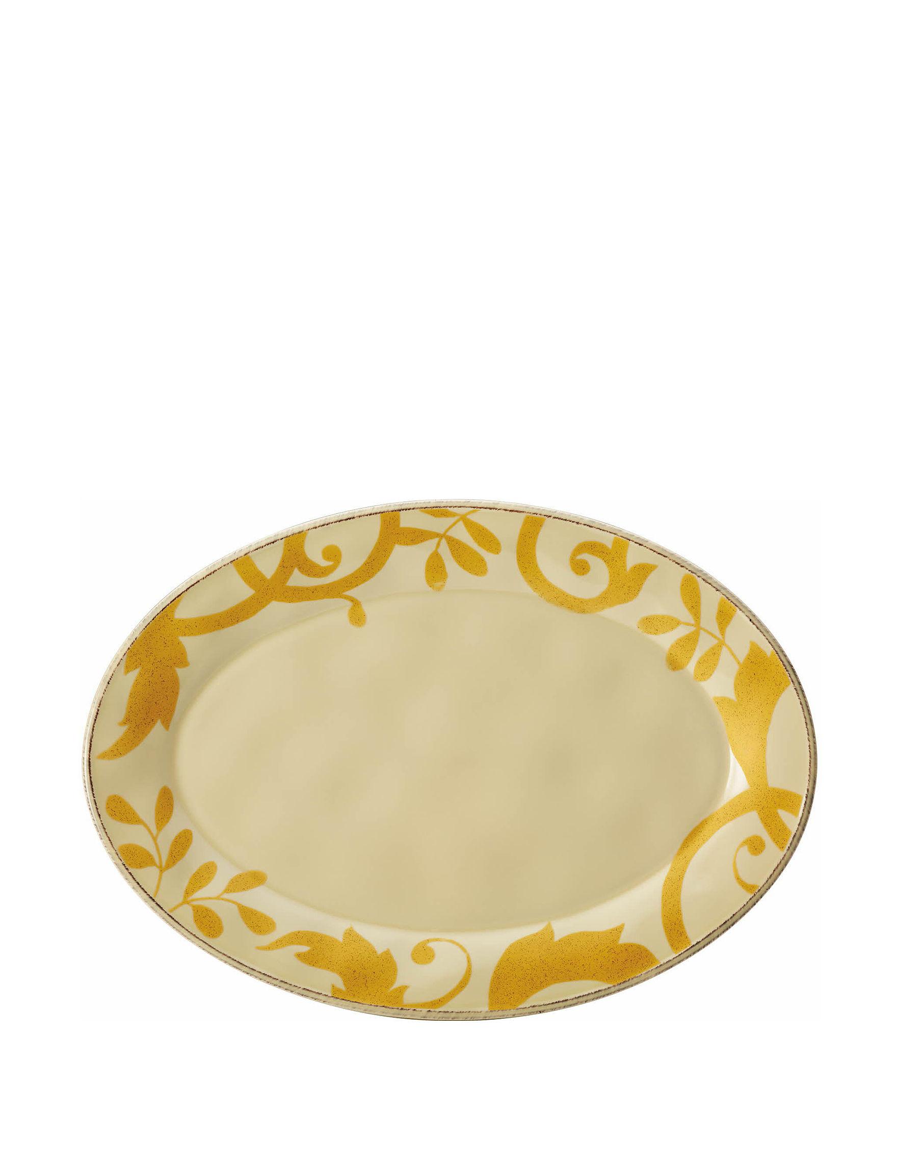 Rachael Ray Beige Serving Platters & Trays Serveware
