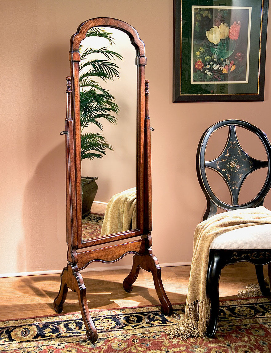 Butler Specialty Co. Cherry Finish Bedroom Mirrors Bedroom Furniture