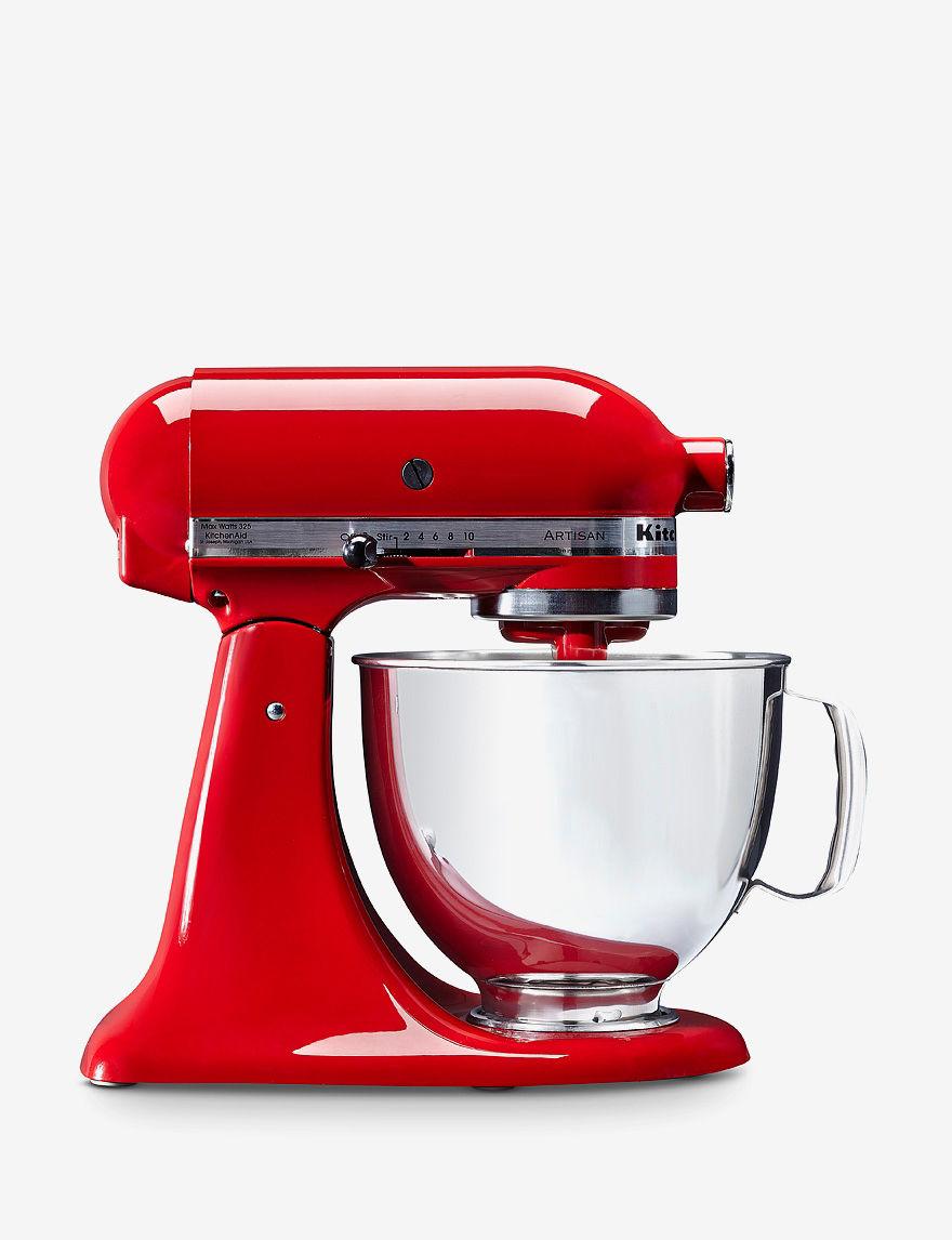 KitchenAid Red 5 Quart Artisan Mixer   White   Red   KitchenAid