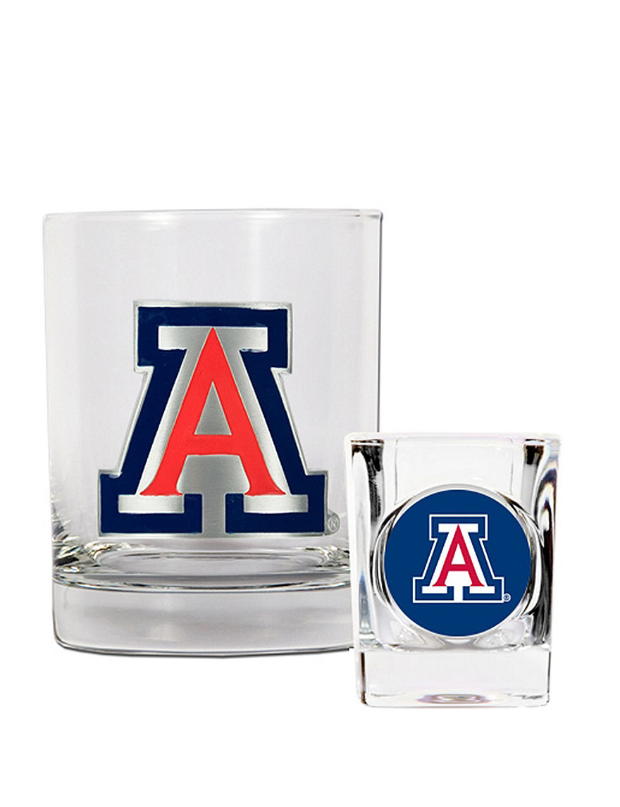 NCAA Clear Cocktail & Liquor Glasses Drinkware Sets