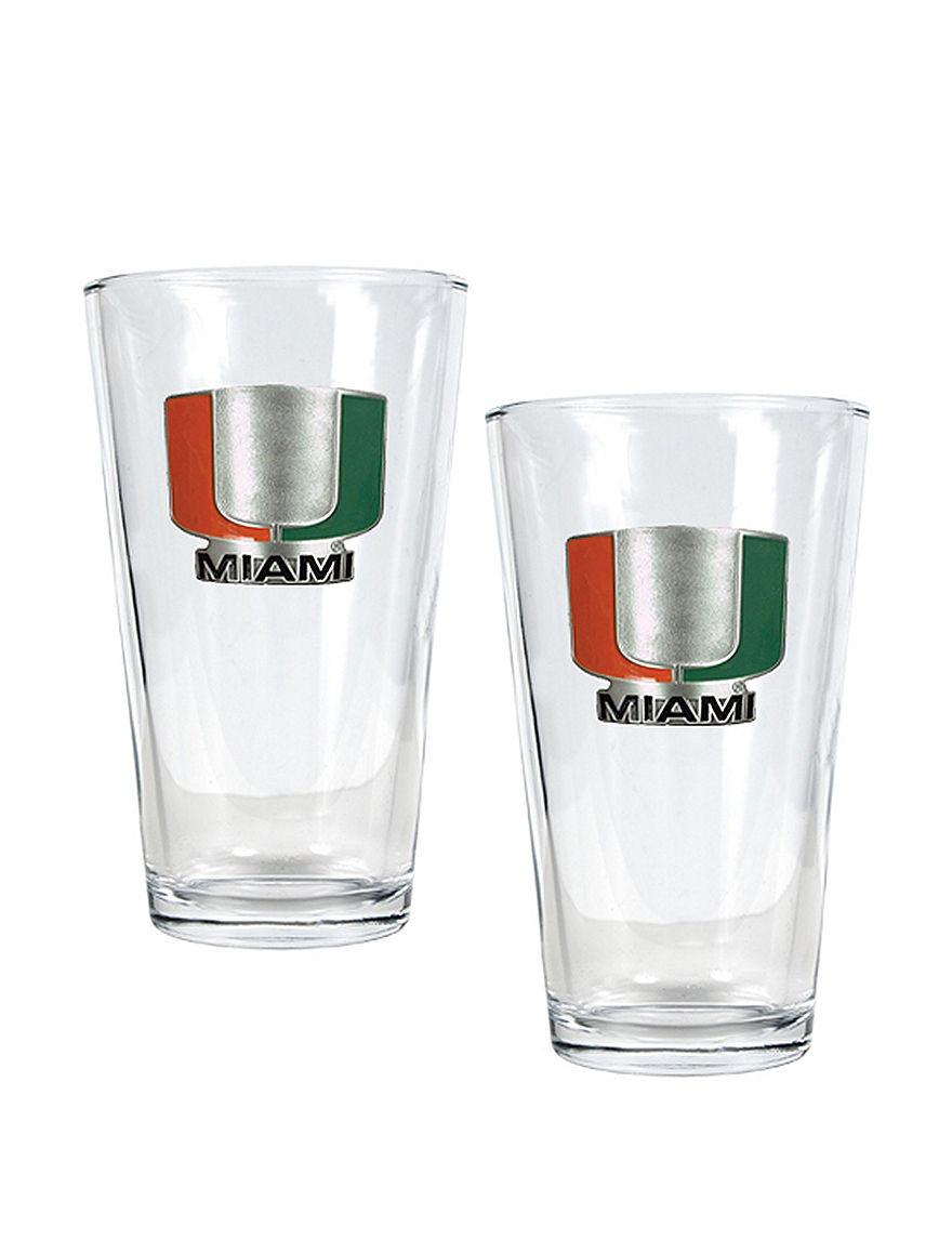 NCAA Black Beer Glasses Drinkware Sets Everyday Cups & Glasses Drinkware