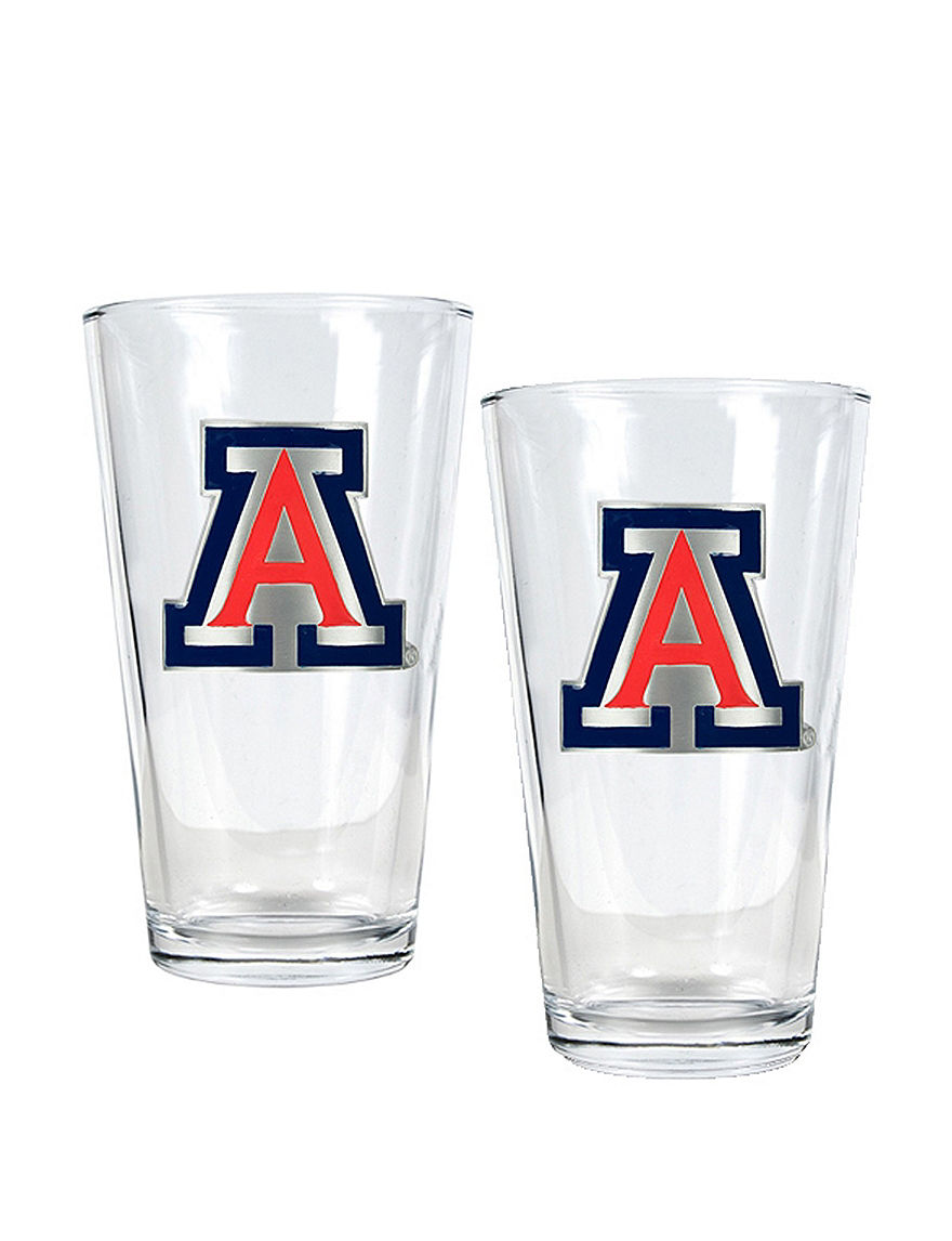 NCAA Clear Beer Glasses Drinkware Sets