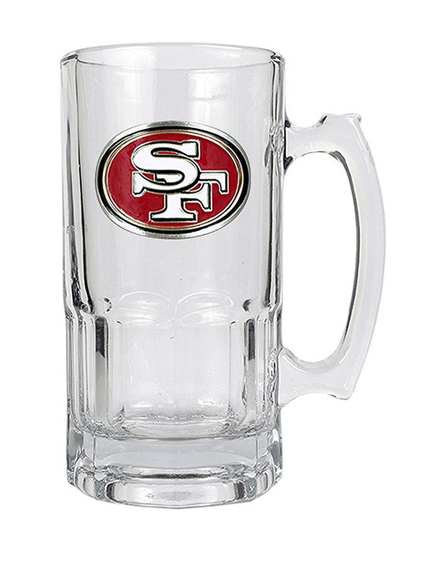 NFL Clear Beer Glasses Mugs Drinkware