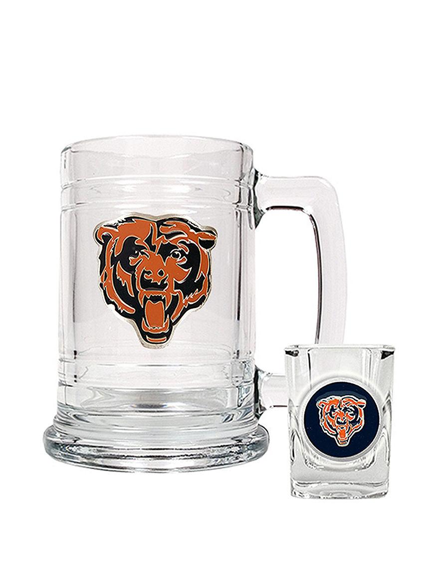 NFL Clear Beer Glasses Cocktail & Liquor Glasses Drinkware Sets Mugs Drinkware