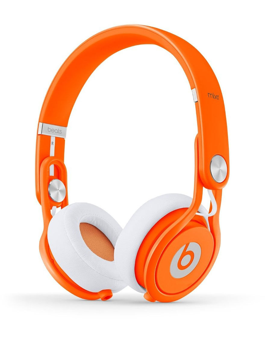 Beat By Dre Wired Neon Beats Mixr On-Ear Headphones - CLOSEOUT! - Orange - Beats by Dre