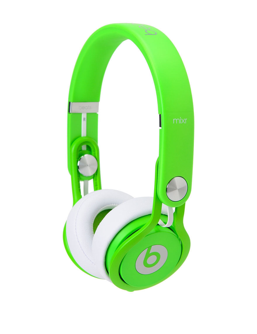 Beat By Dre Wired Neon Beats Mixr On-Ear Headphones - CLOSEOUT! - Green - Beats by Dre