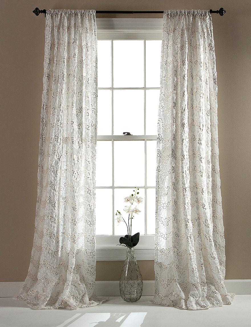 Lush Decor Ivory Curtains & Drapes Window Treatments