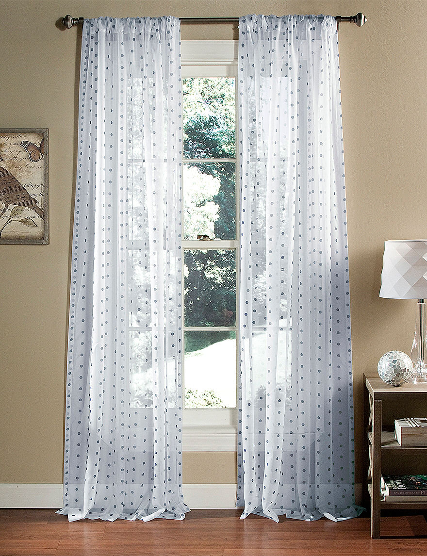 Lush Decor Navy Curtains & Drapes Window Treatments