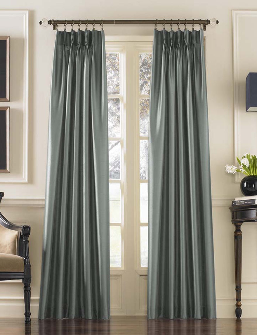 Curtain Works Teal Window Treatments