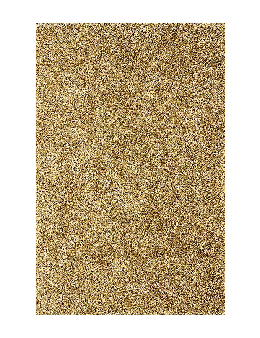 Dalyn Rugs Illusion Collection Solid Color Beige Shag Area